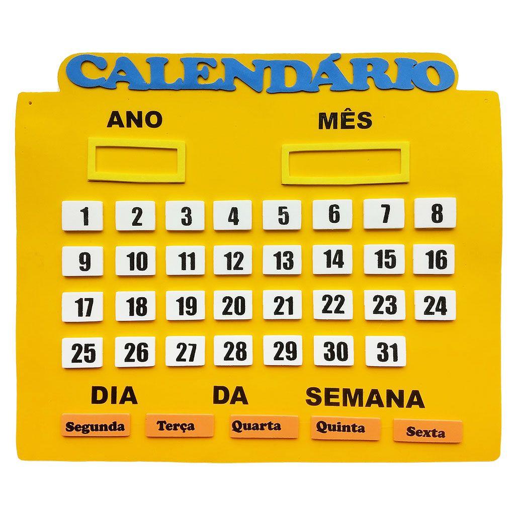 Calendário Em Eva