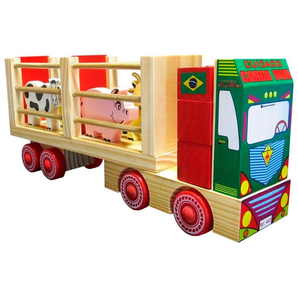 Caminhão Fazendinha de Madeira - Carimbras