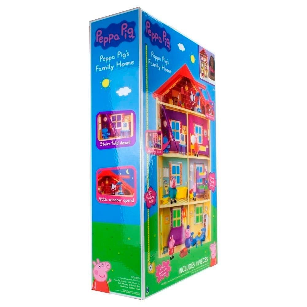 Casa Gigante da Peppa Pig com  7 Ambientes  e 11 Acessórios - Sunny