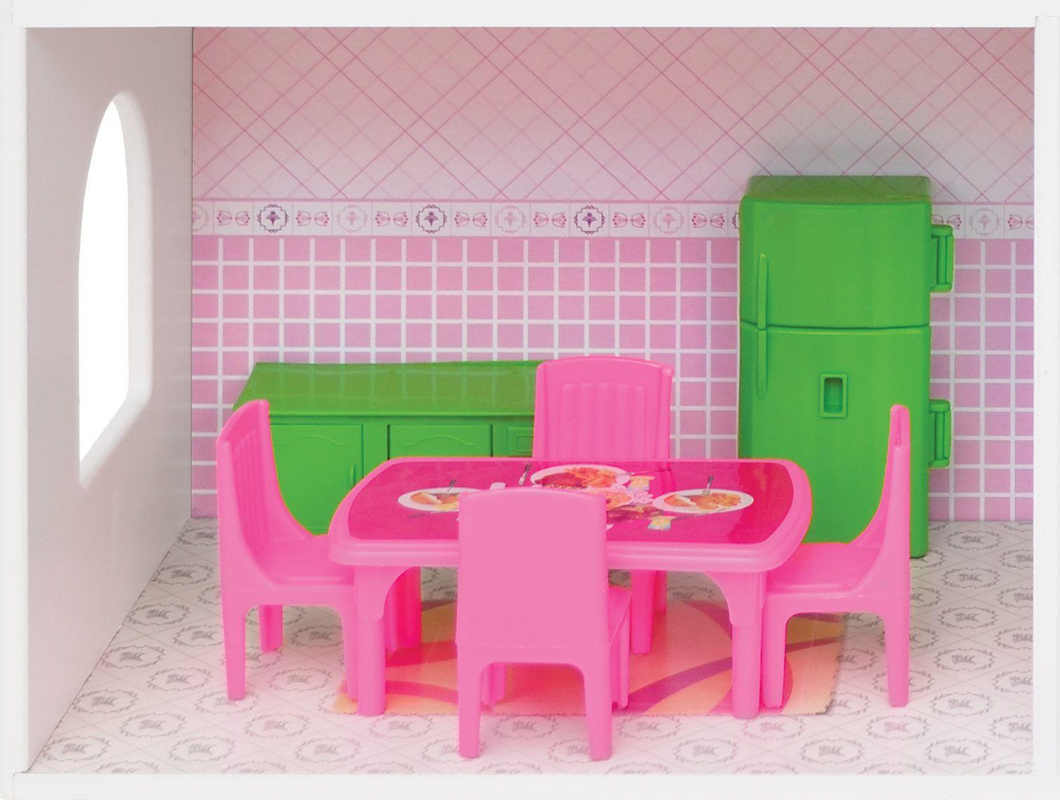 Casinha de Bonecas Mobiliada em Madeira Sweet Home