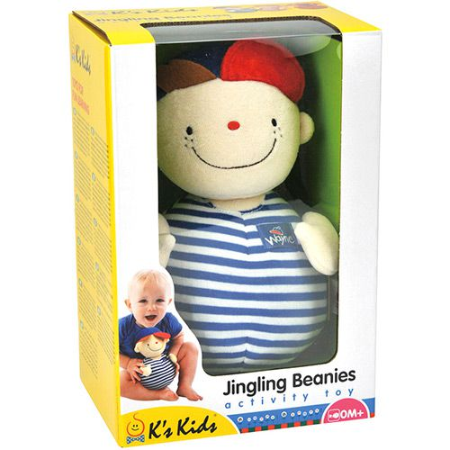 Chocalho Boneco Jingling Beanies Wayne Chubby - Ks Kids