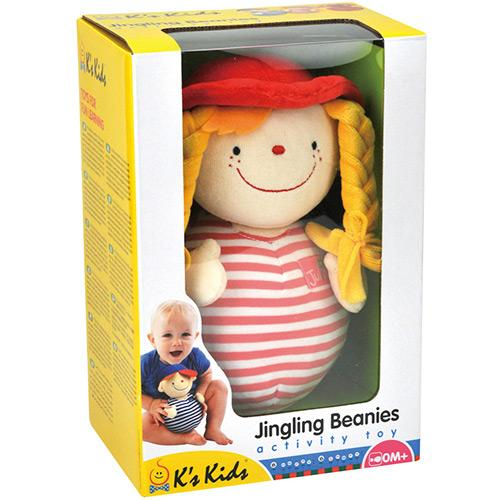 Chocalho Boneca  Jingling Beanies Julia Chubby - Ks Kids