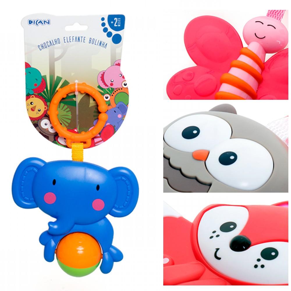 Chocalho Para Bebê Vários Animais - Dican