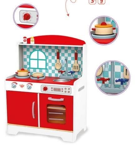 Cozinha Infantil de Madeira Tooky Toy