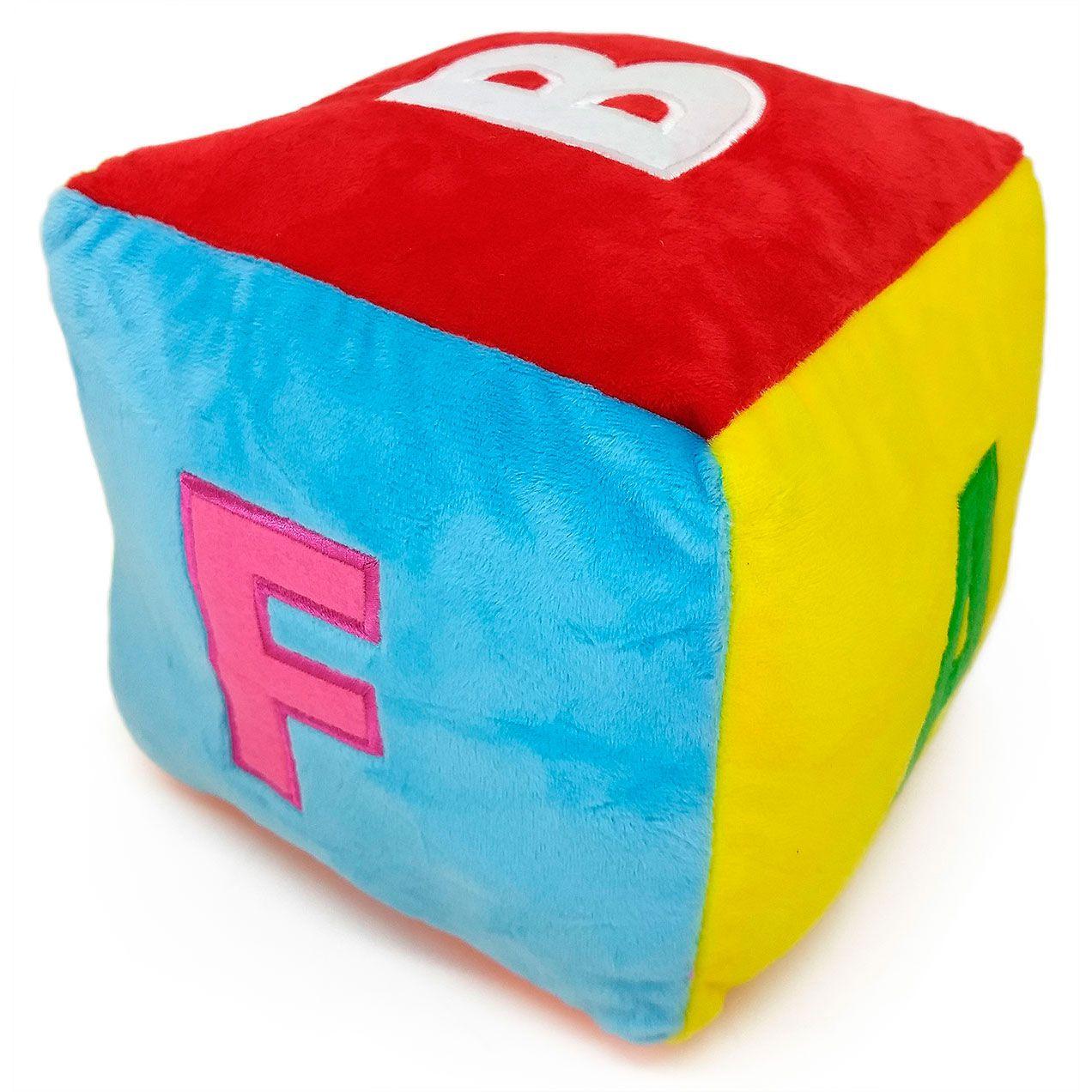 Cubo Colorido de Pelúcia com Chocalho