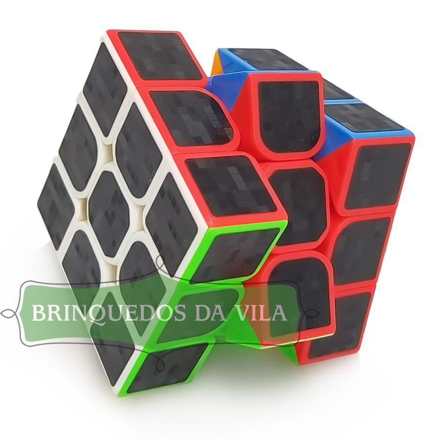 Cubo Mágico Profissional 3x3 Black Carbono - Ark Toys