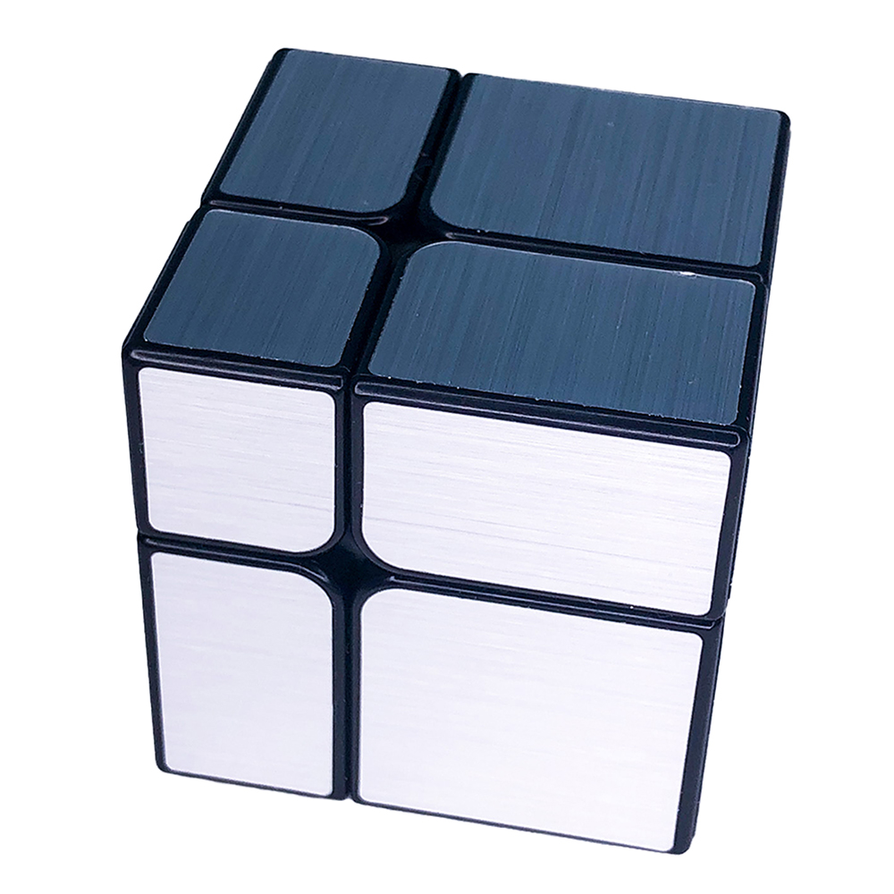Cubo Mágico Profissional Mirror Blocks 2x2 Prateado