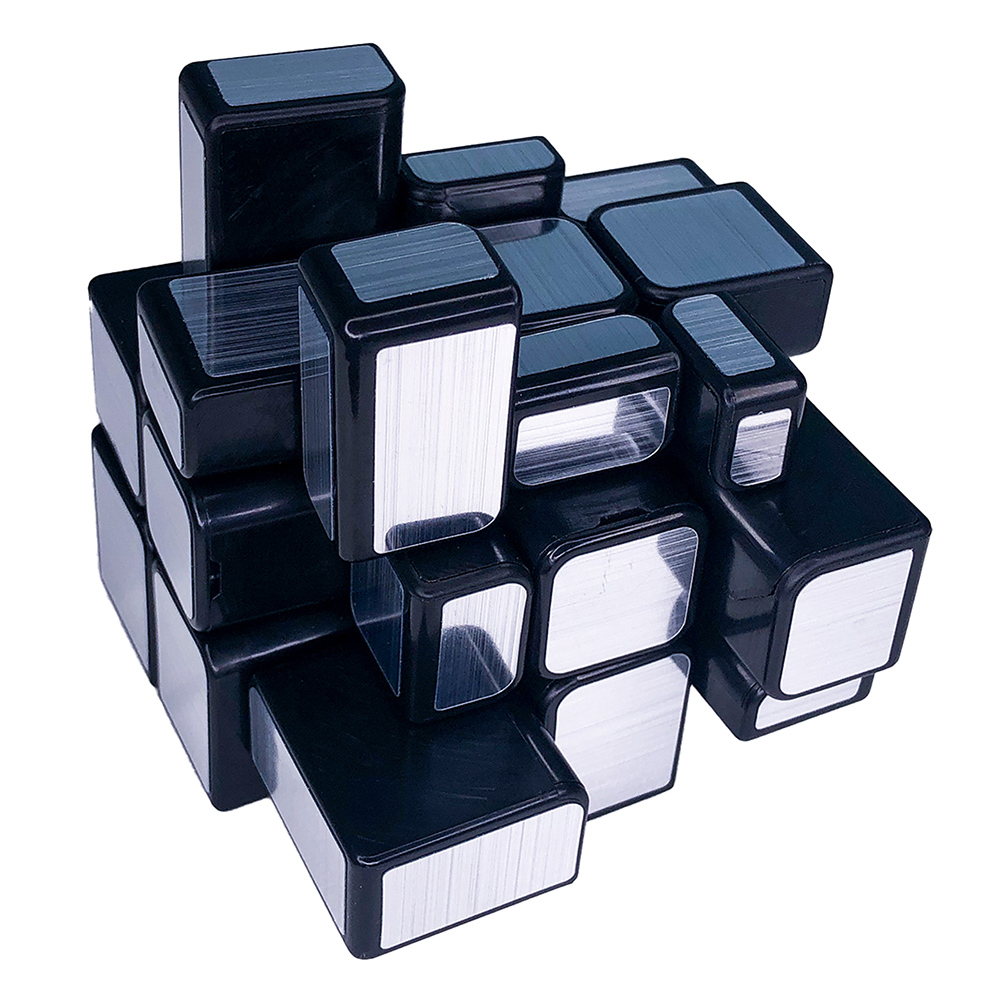 Cubo Mágico Profissional Mirror Blocks 3x3 Prateado