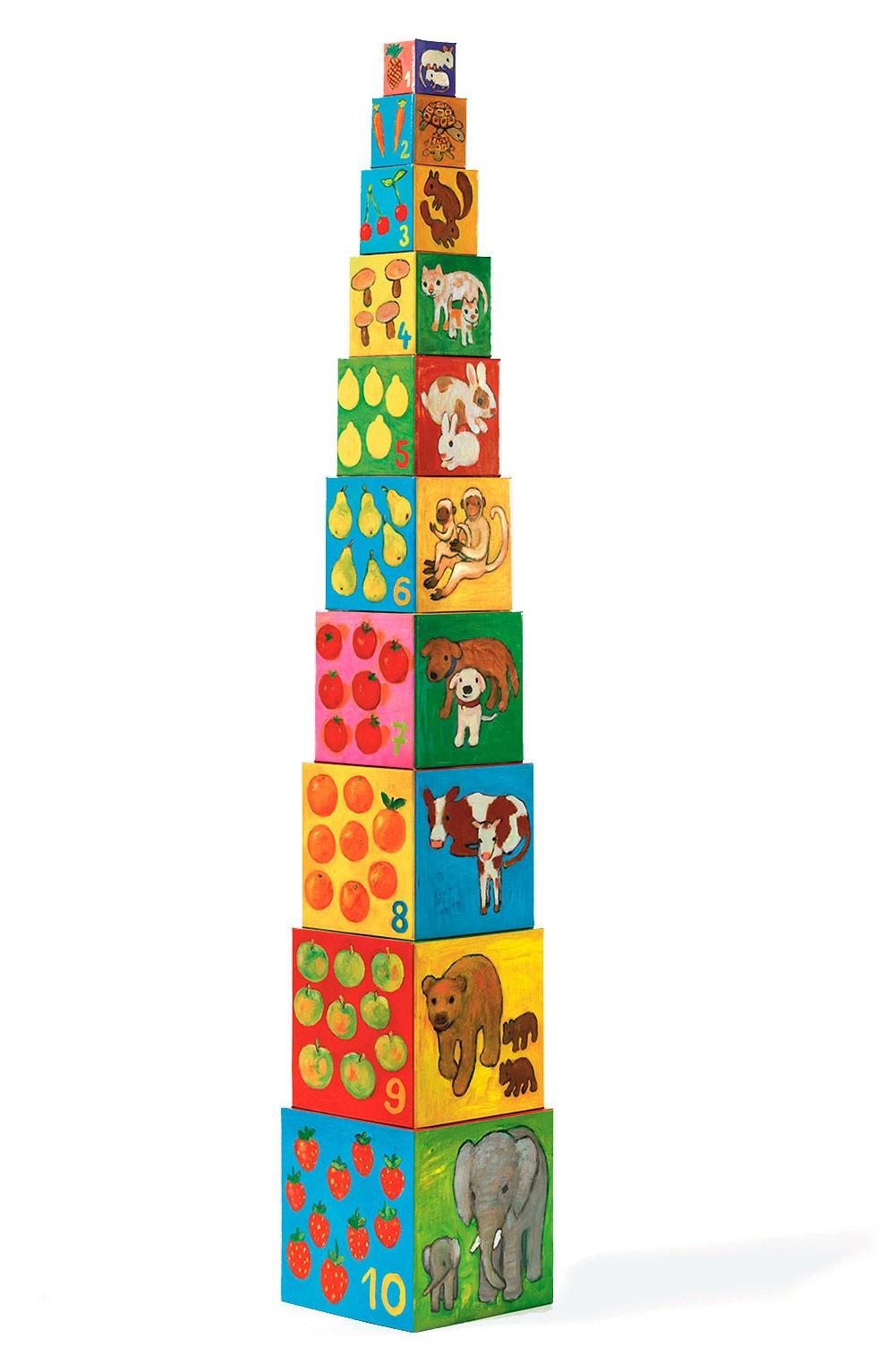 Cubos de Empilhas meus Amigos Animais - Djeco