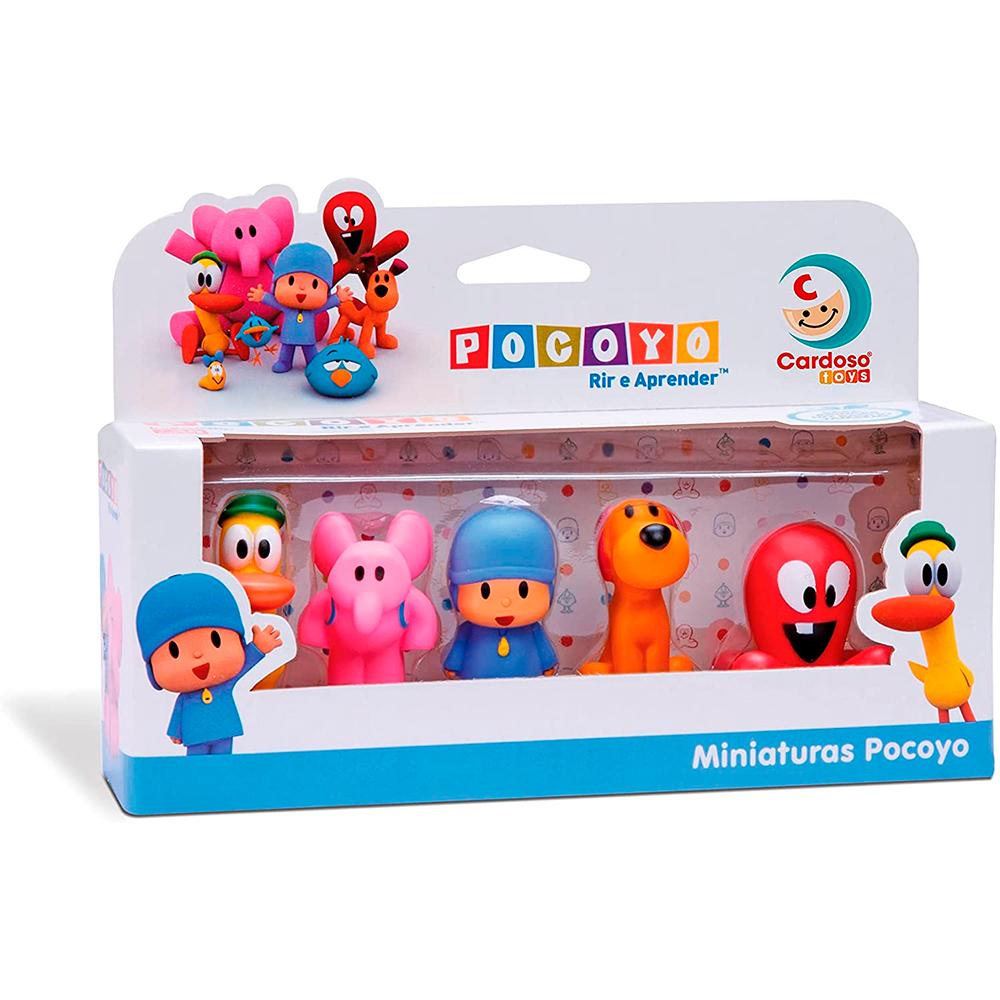 Dedoches Pocoyo em Miniatura com 5 personagens - Cardoso Toys
