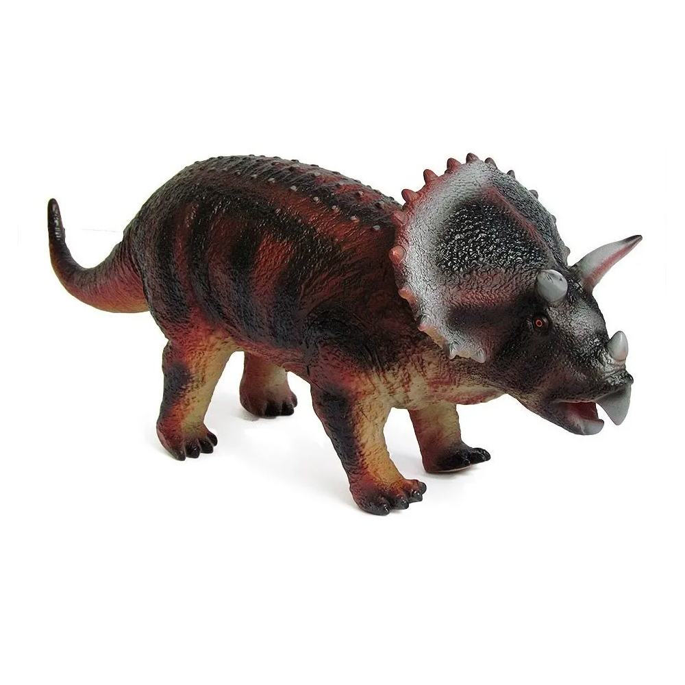 Dinossauro de Borracha Triceraptor Grande