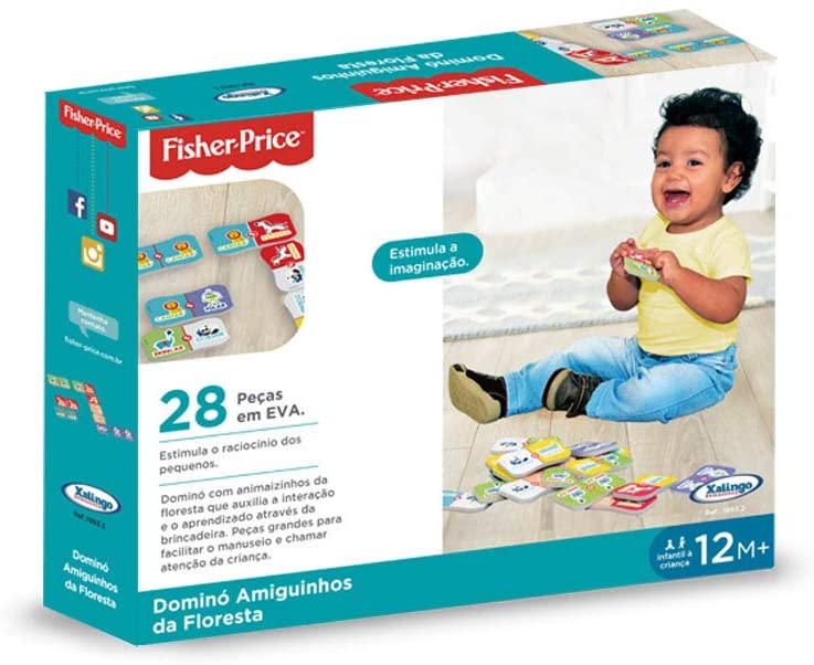 Dominó Amiguinhos da Floresta Fisher-Price Xalingo