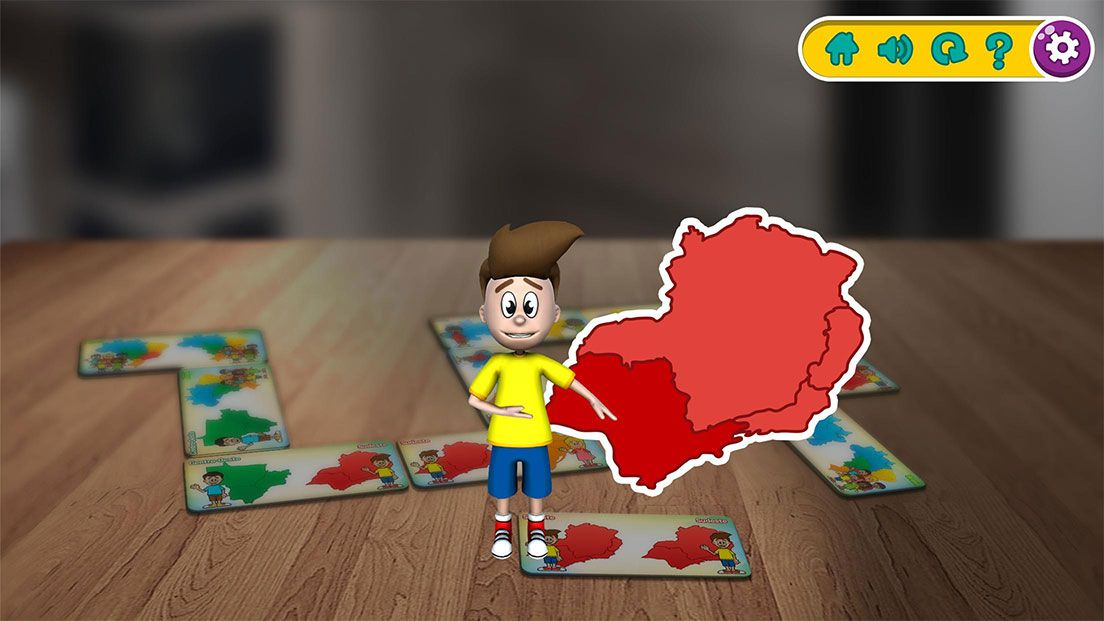 Dominó interativo - Interactive Play Estados e Regiões - Xalingo