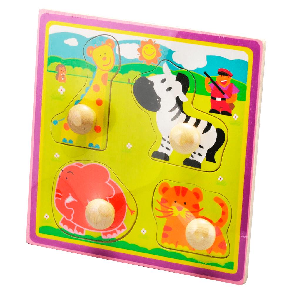 Encaixe E Brinque Animais Com Puxador Largo - Dican