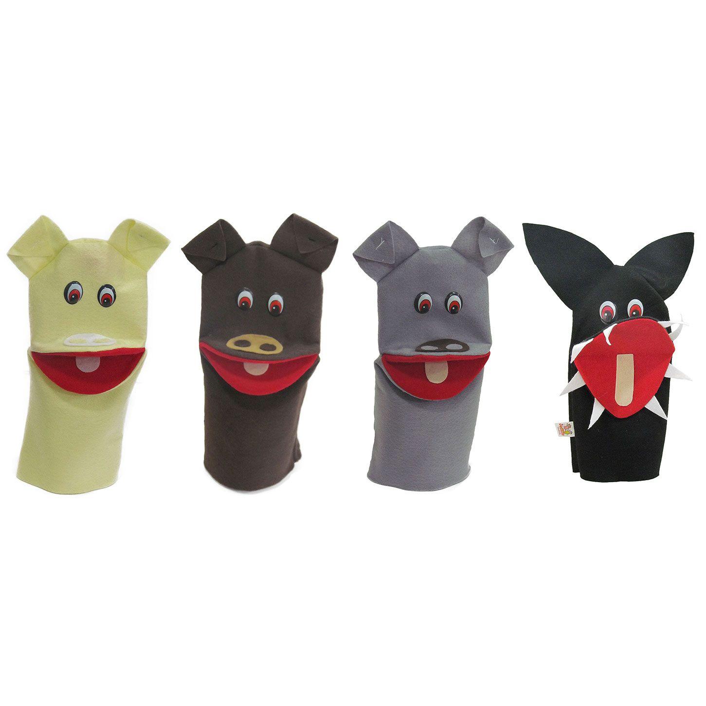 Fantoche em Feltro - Os Três Porquinhos