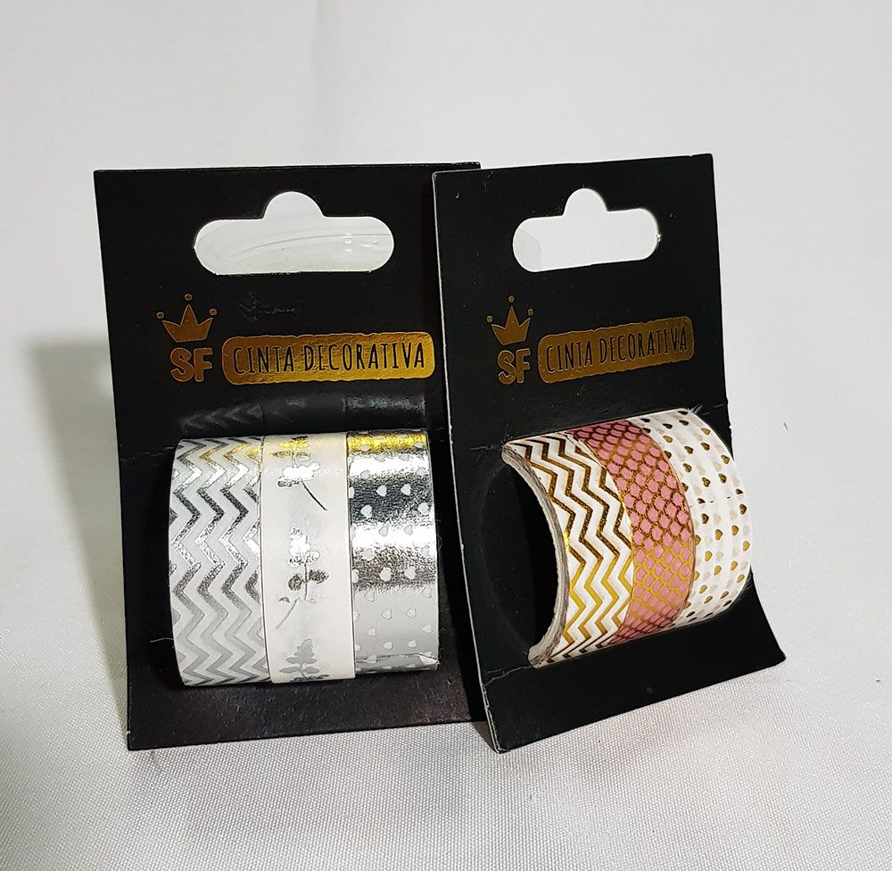 Fita Adesiva  Decorativa Kit com 3 Unidades