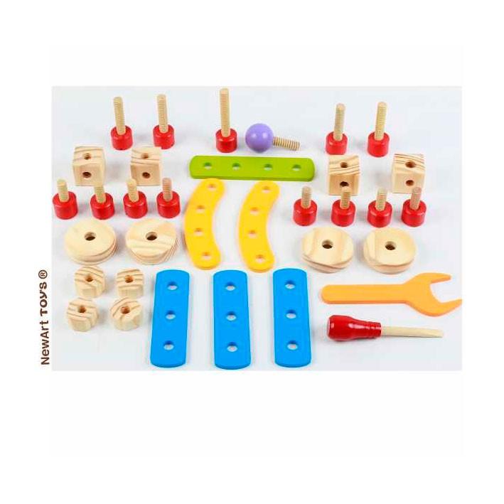 Gire e Crie Brinquedo de Madeira e Construção - New Art