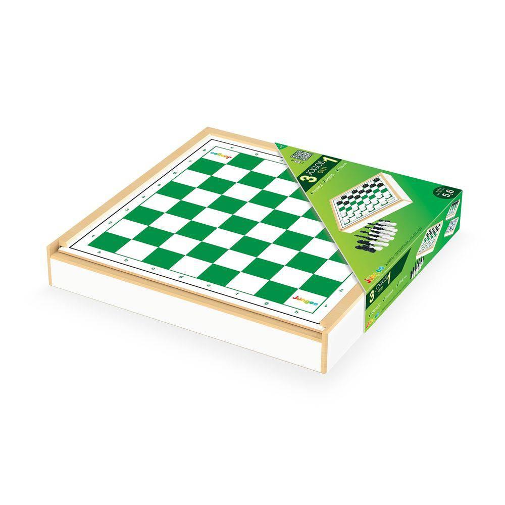 Jogo 3 x 1 Xadrez Damas e Trilha