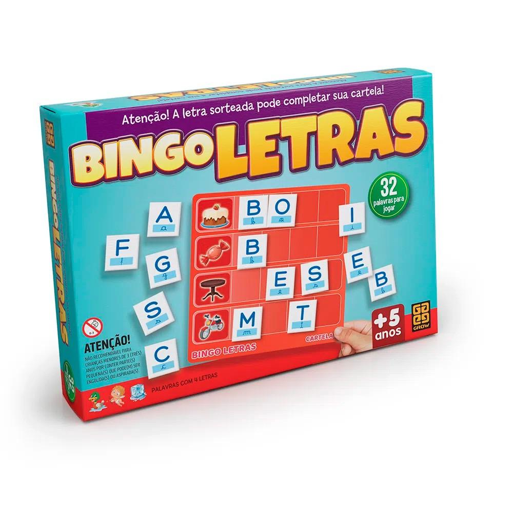 Jogo Bingo de Letras - Grow