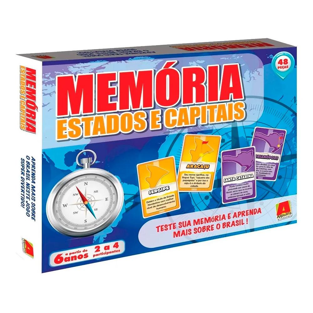 Jogo da Memória Estados e Capitais - Novo Mundo