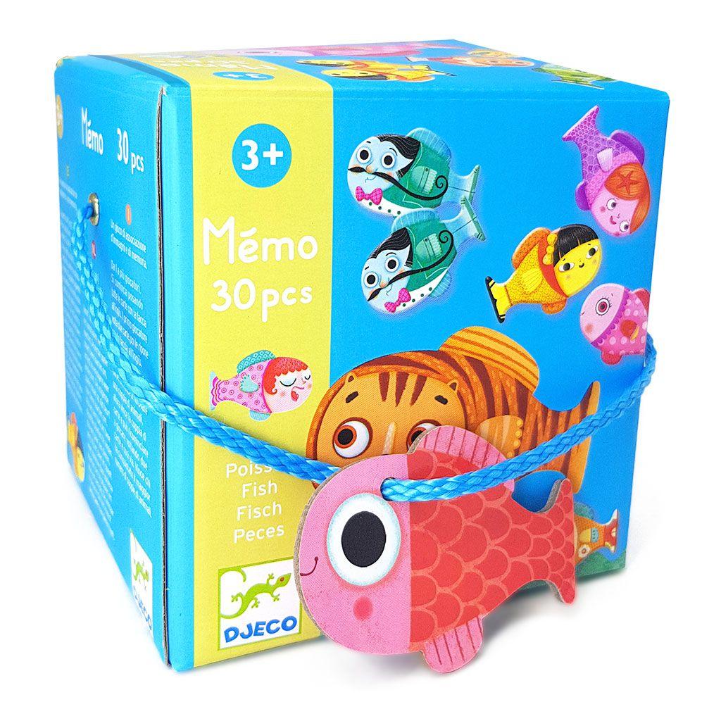 Jogo da Memória em Formato de Peixes 30 Peças - Djeco