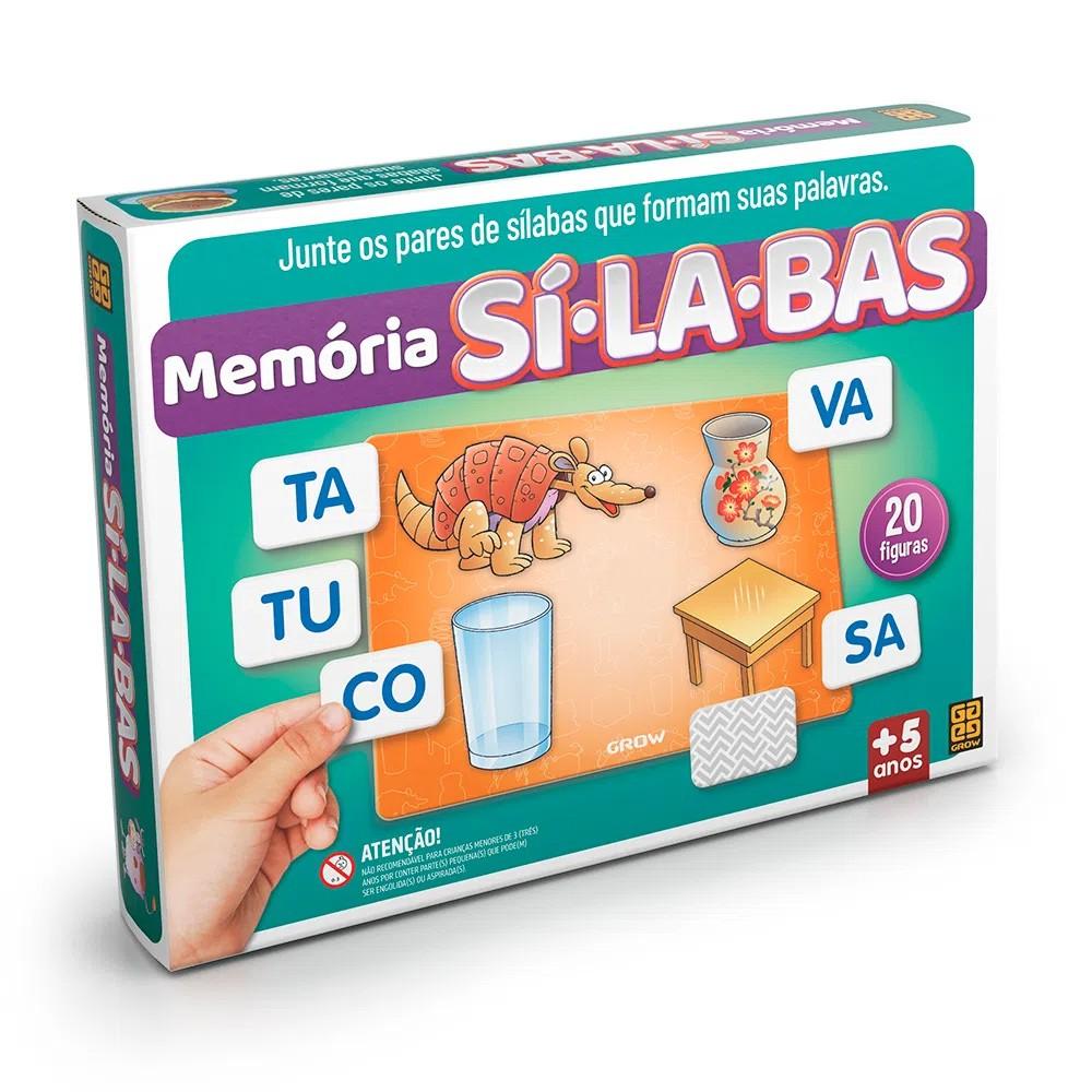 Jogo de Memória Sílabas - Grow