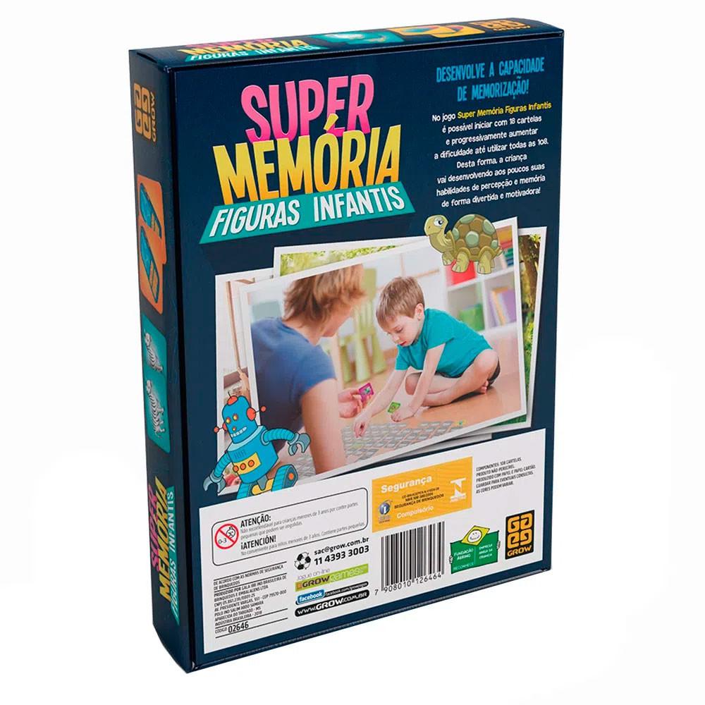Jogo Super Memória Figuras Infantis - Grow