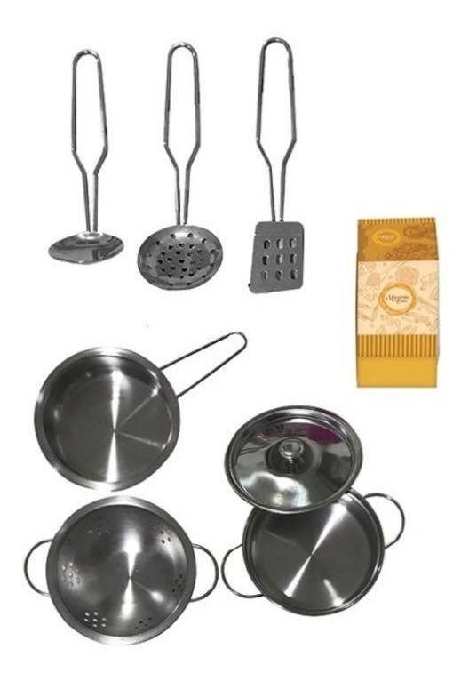 Utensílios de Cozinha Infantil de Inox 8 Peças
