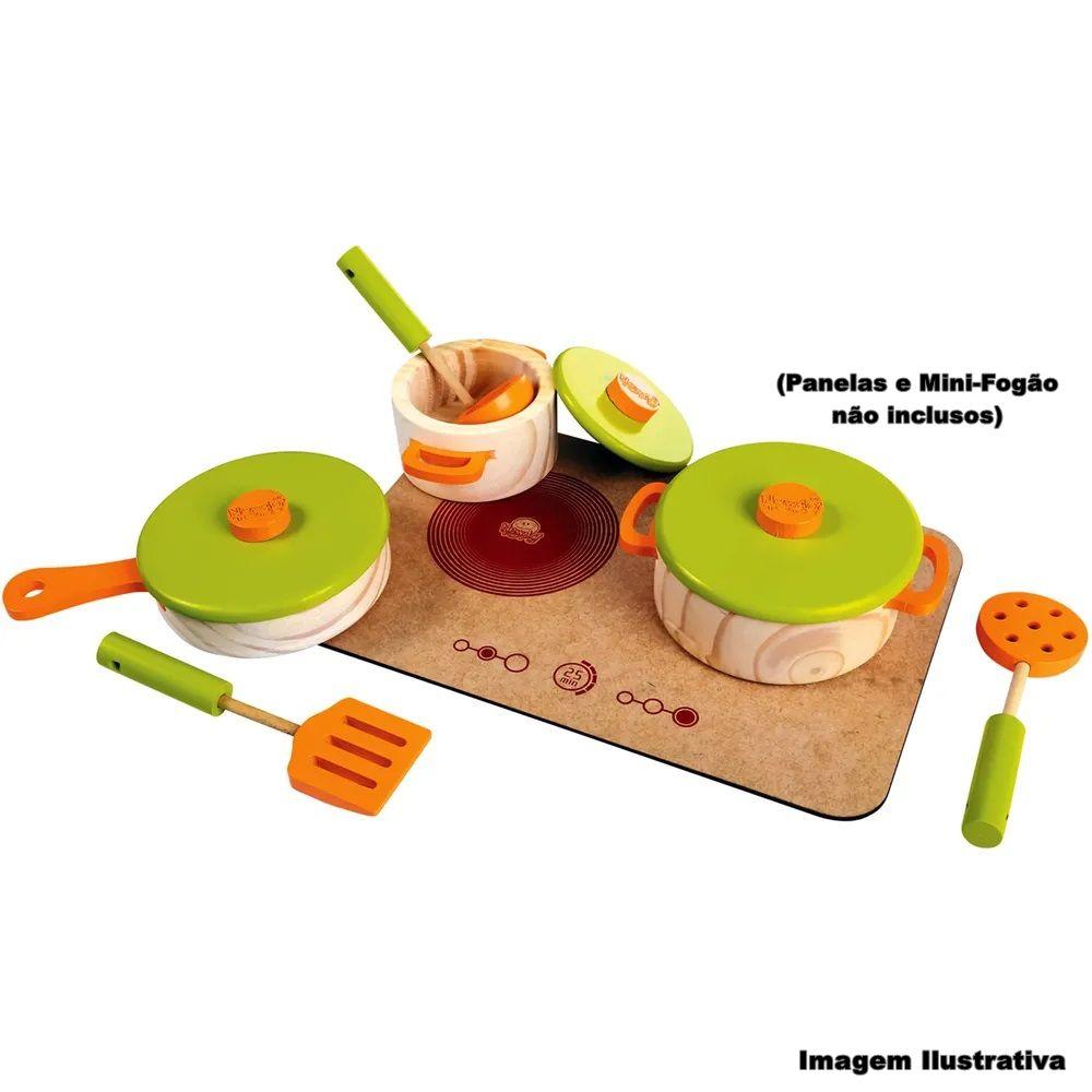 Kit de Utensílios de Cozinha Coleção Comidinha - New Art