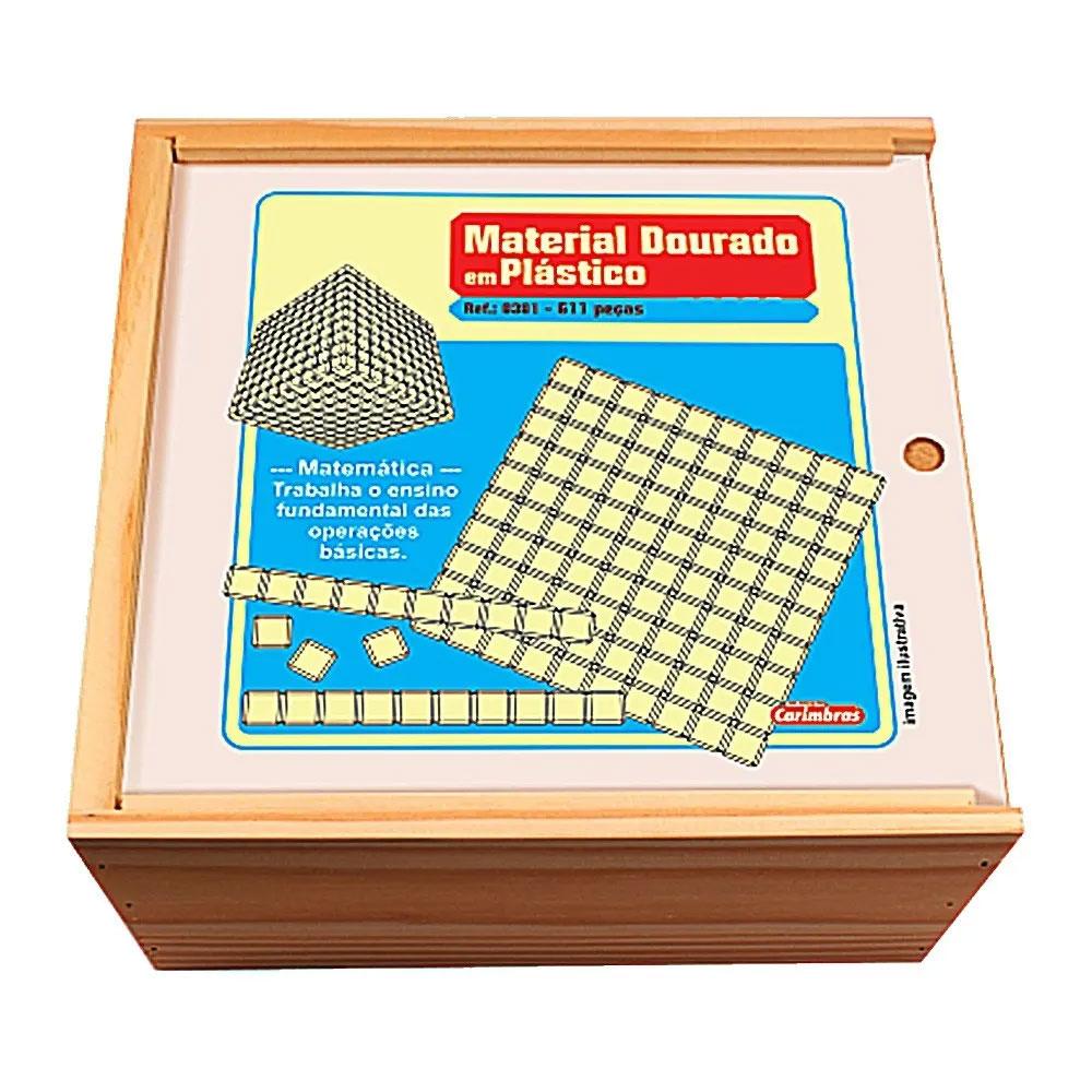 Material Dourado 611 Peças em Plástico - Carimbras