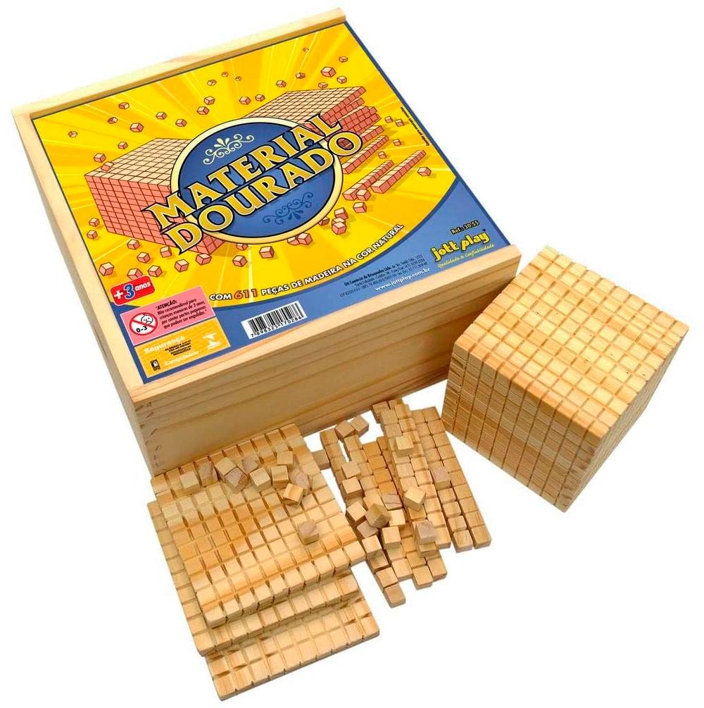Material Dourado Completo 611 Peças em Madeira - Jott Play