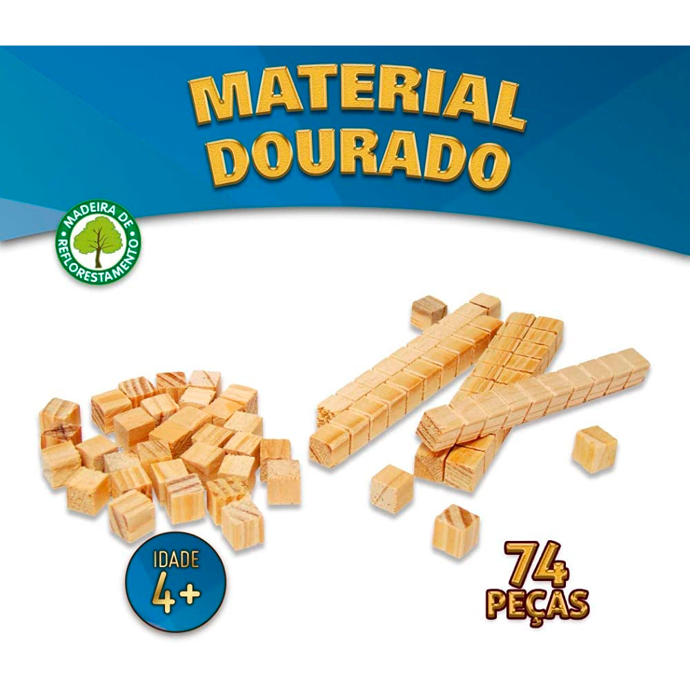 Material Dourado Individual 74 Peças - Pais & Filhos