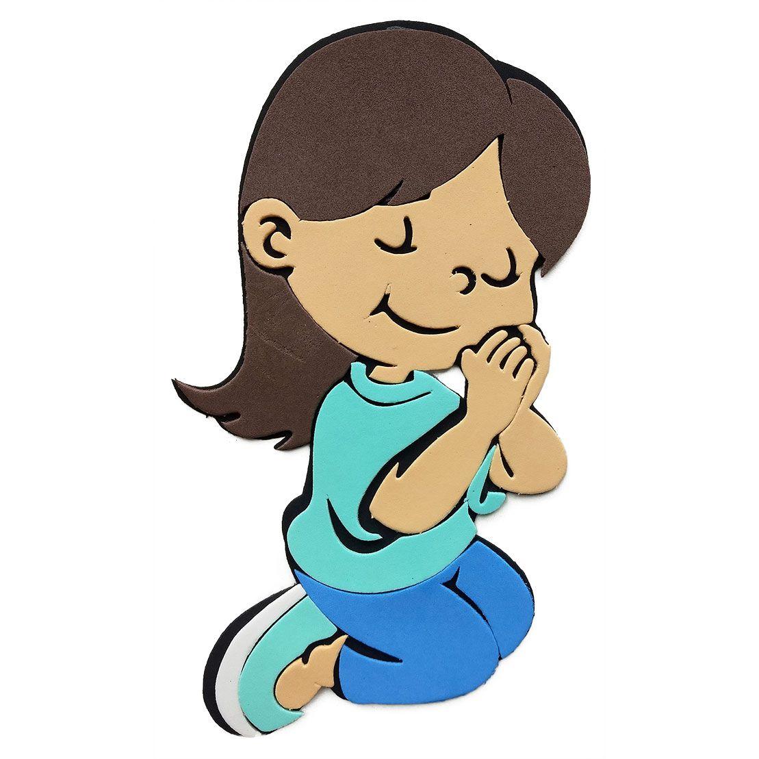 Menina Orando de Eva