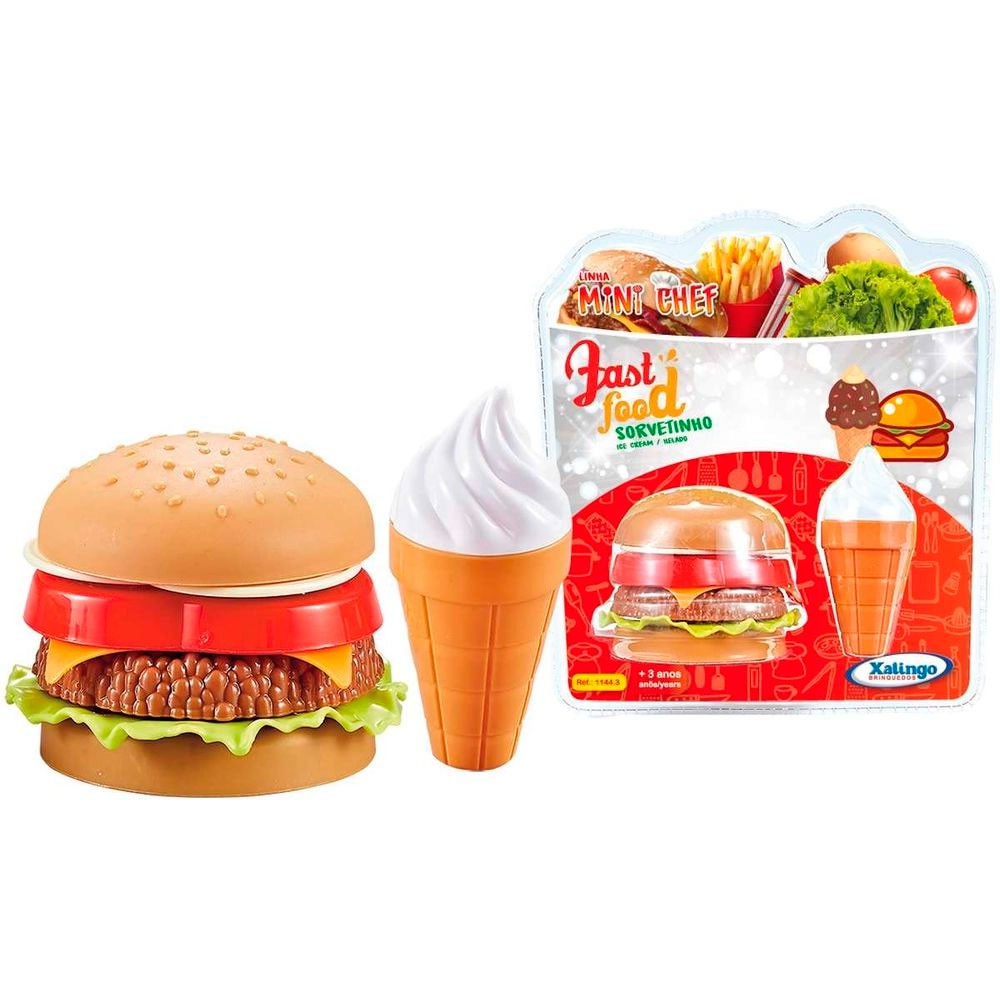 Fast Food Sorvetinho Mini Chef - Xalingo