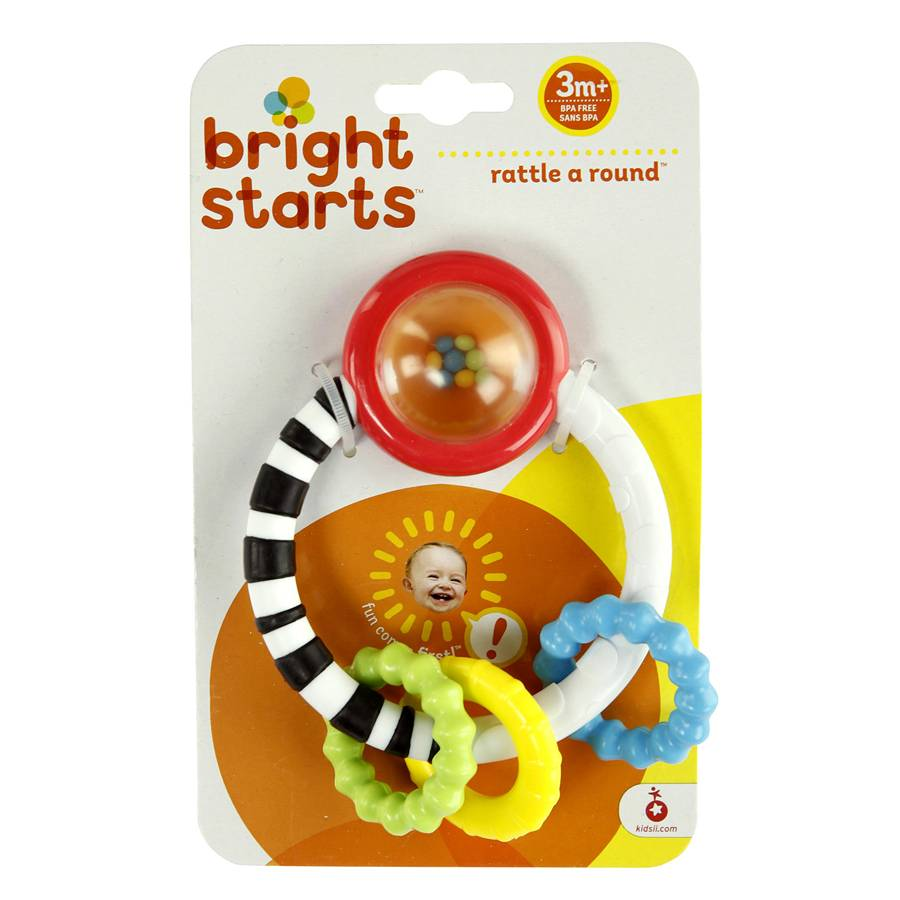 Mordedor Chocalho Rattle Around Teething Toy Bright Starts