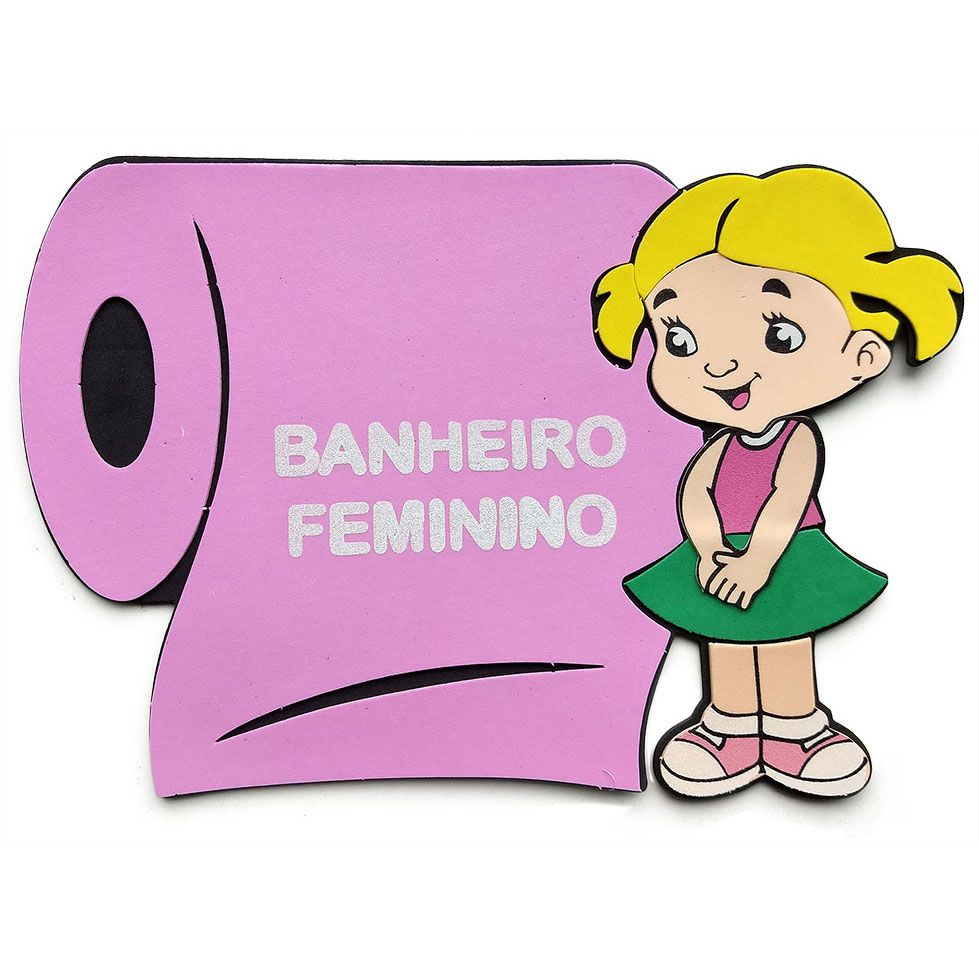 Papel Higiênico Banheiro Feminino de Eva