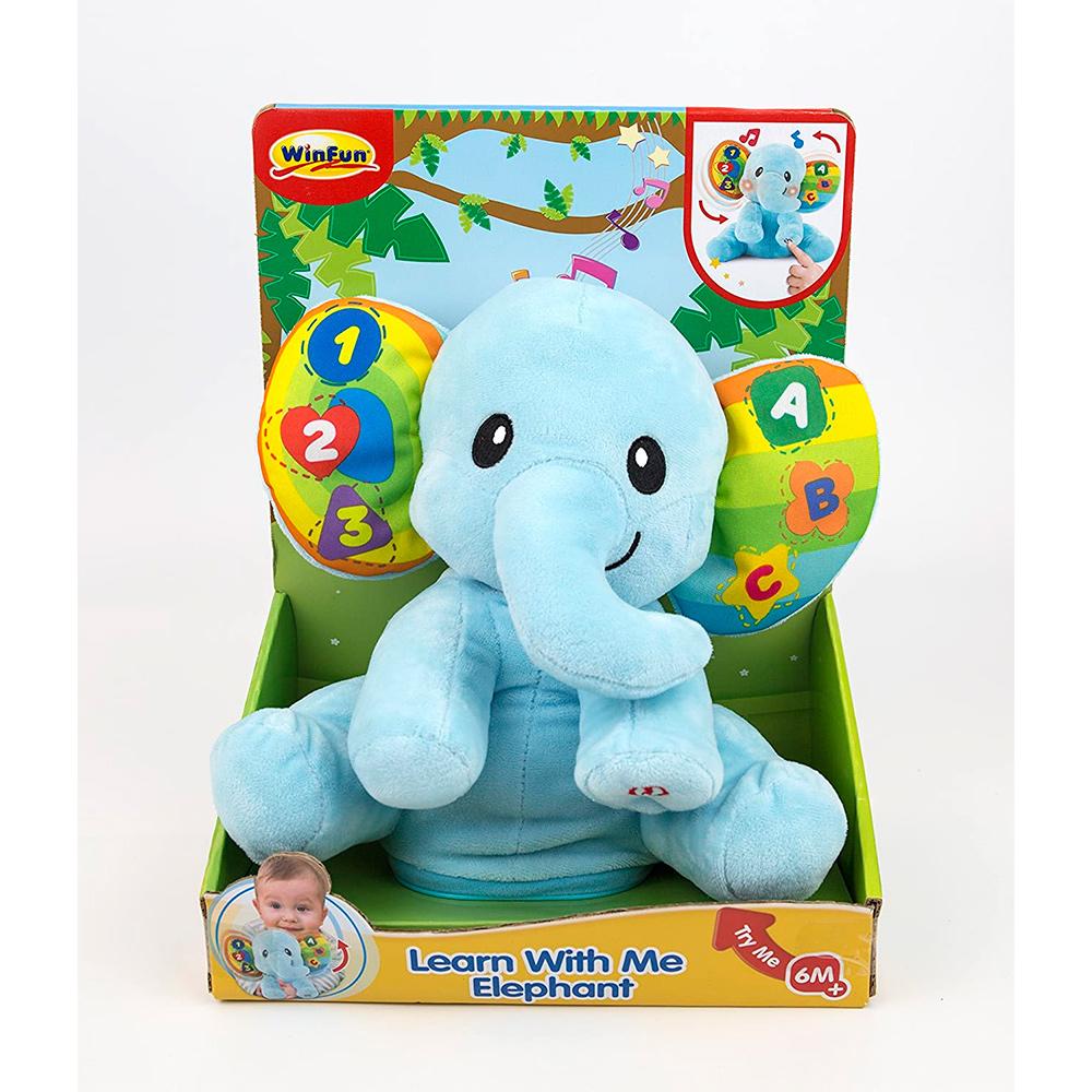 Pelúcia Musical Elefante Dance Comigo Para Bebês - Winfun
