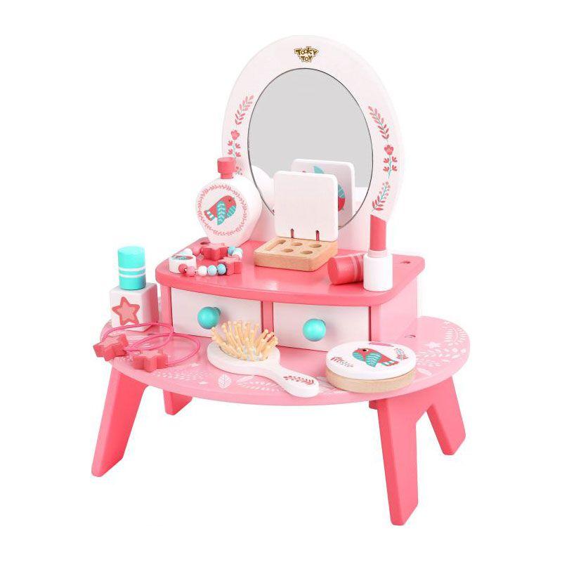 Penteadeira Rosa em Madeira Tooky Toy