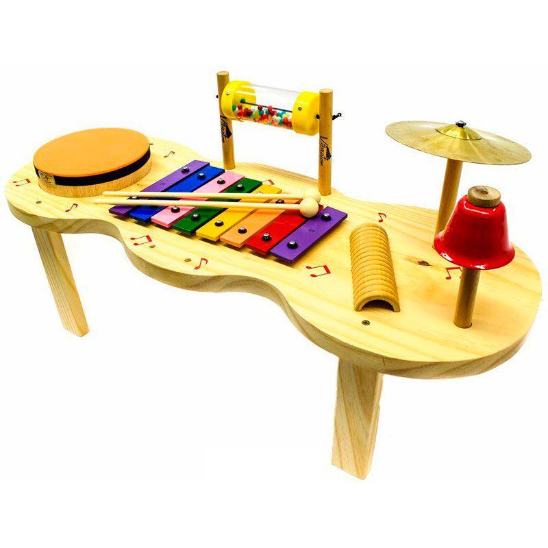 Pequena Percussão Baby em Madeira - Vibratom