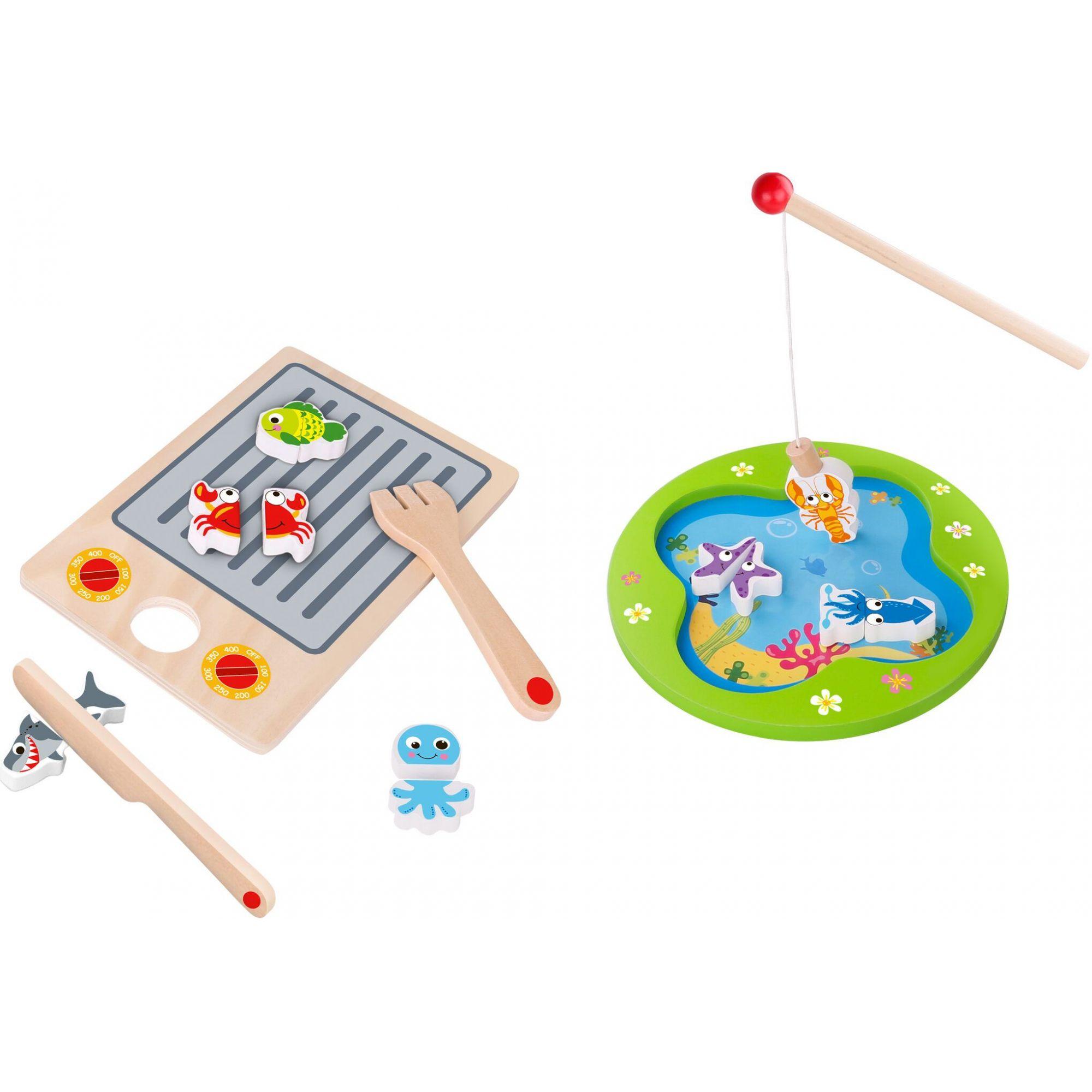 Brinquedo Pescar e Grelhar Magnético - Tooky Toy