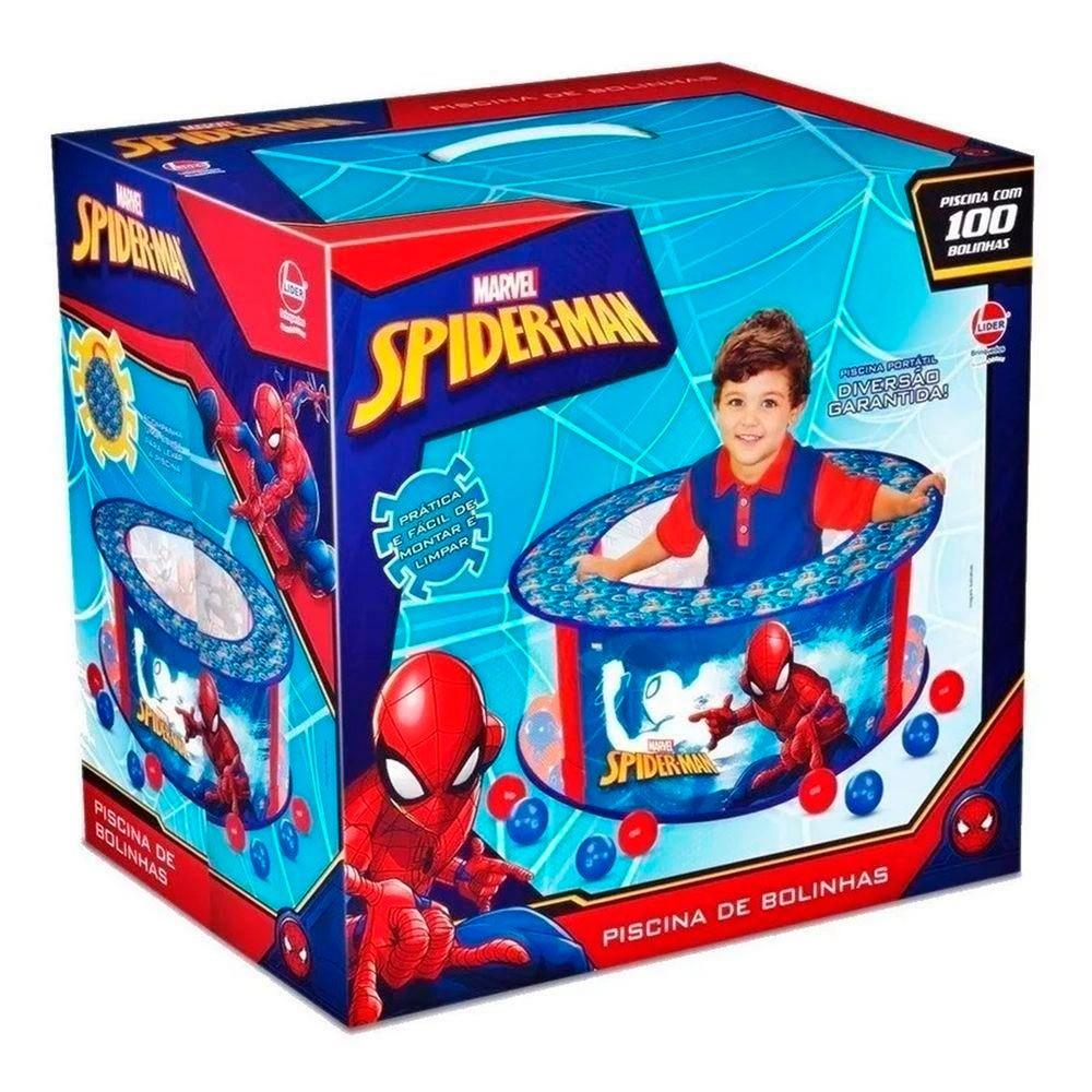 Piscina de Bolinha Spider-Man Com 100 Bolinhas -Líder