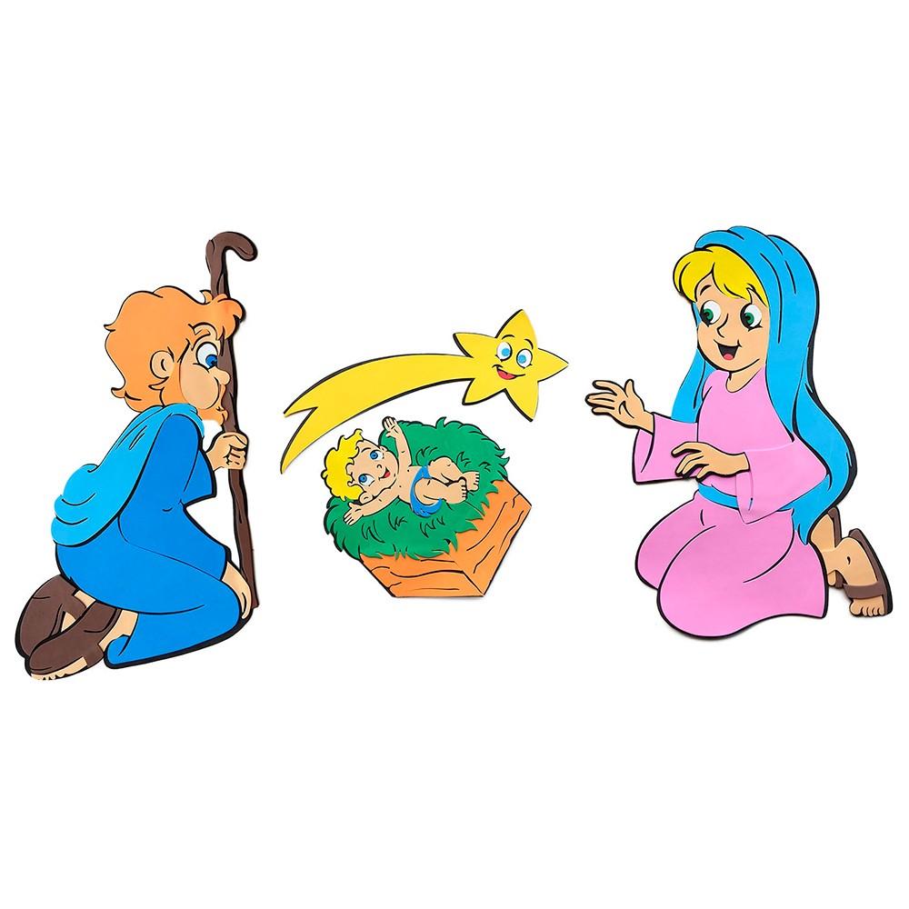 Presépio Sagrada Família em Eva