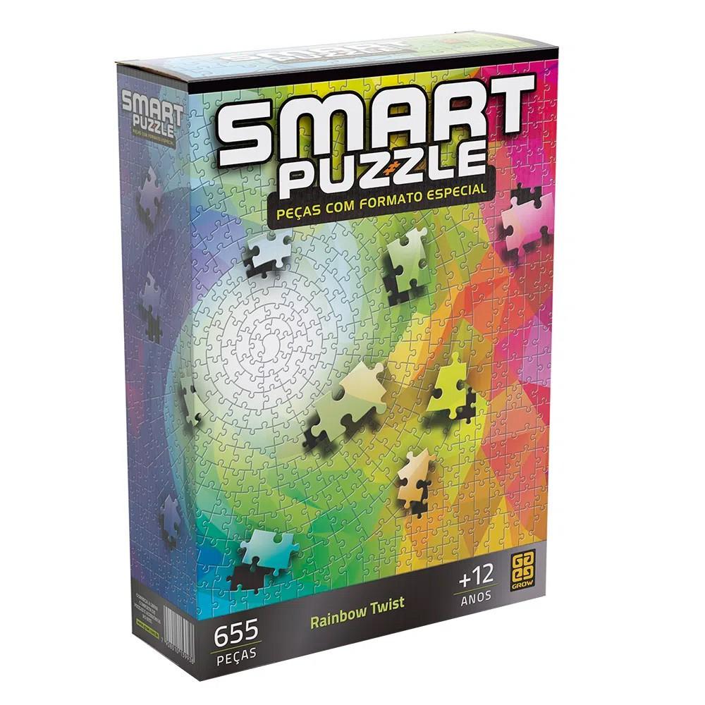 Smart Puzzle Rainbow Twist 655 Peças com Formato Especial - Grow
