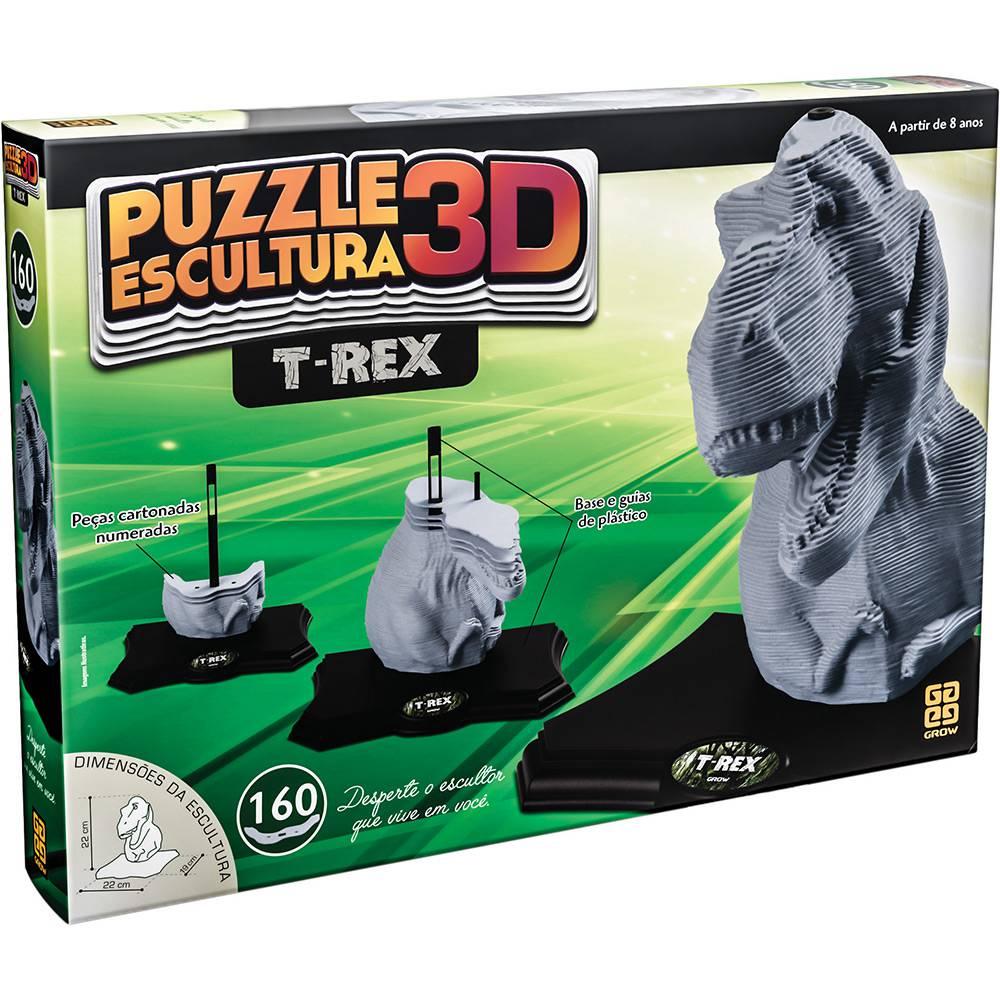 Puzzle Escultura em 3D T-Rex