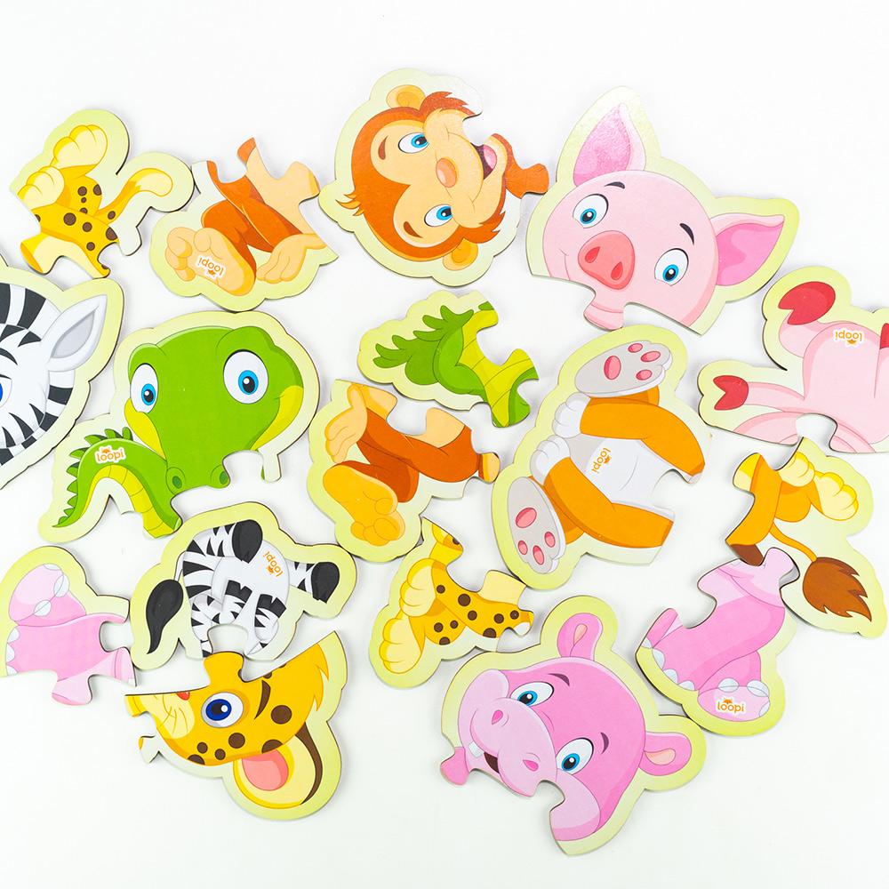 Quebra Cabeça Animais Baby Progressivo  29 Peças - Loopi Toys