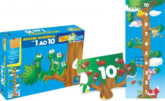 Quebra-cabeça Árvore Numérica Do 1 Ao 10 - Taquetá Brinquedos