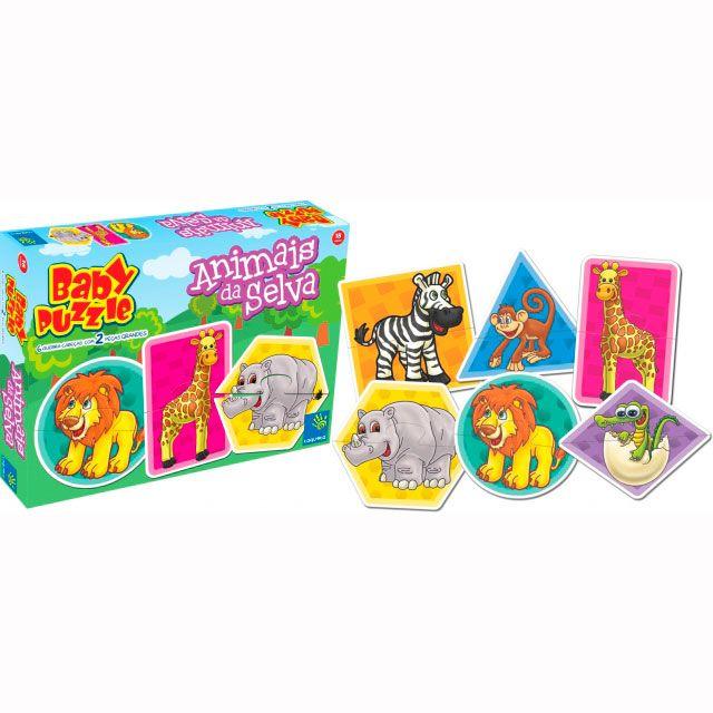 Quebra-cabeça Baby Puzzle Animais Selva - Taquetá Brinquedos