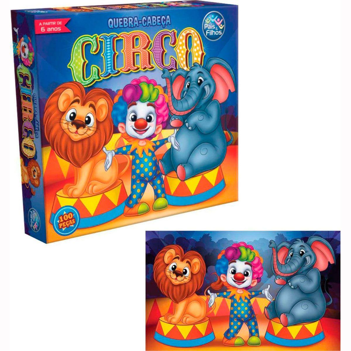 Quebra Cabeça Circo 100 Peças