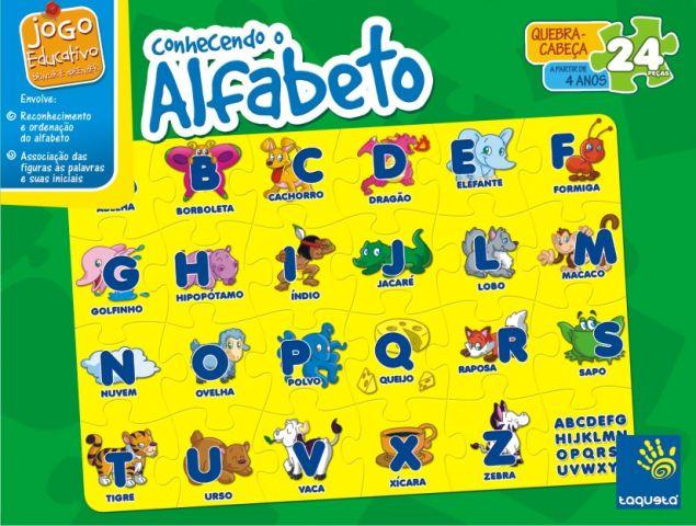 Quebra-cabeça Conhecendo O Alfabeto - Taquetá