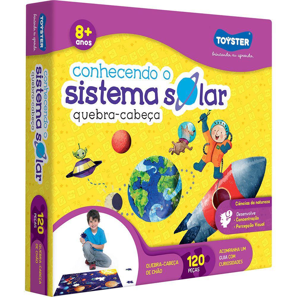 Quebra-Cabeça Conhecendo o Sistema Solar com 120 Peças - Toyster